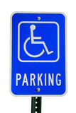 Disabled parking sign. Isolated on white background royalty free stock photo