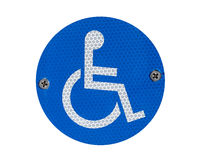 A Disabled Parking Sign. A reflective disabled parking sign - isolated over white stock images
