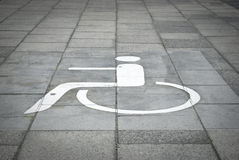 Disabled parking sign Royalty Free Stock Images
