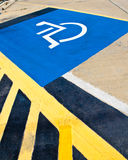 Disabled parking sign . Stock Photos