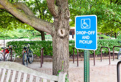 Disabled parking sign Stock Image