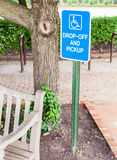 Disabled parking sign Royalty Free Stock Photos