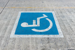 Disabled parking sign Royalty Free Stock Photography