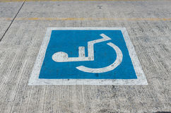 Disabled parking sign Stock Photo