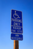 Disabled parking only Stock Image