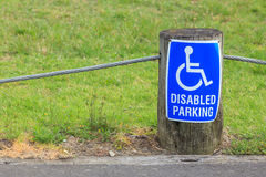 Disabled parking sign for persons with disabilities, for providi Stock Images