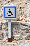 Disabled parking slot sign Stock Photos
