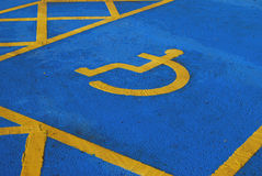 Disabled parking space Stock Photography