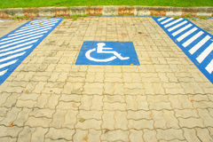 Disabled Parking space. Royalty Free Stock Photography