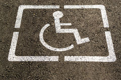 Disabled Parking Space Painted Sign Royalty Free Stock Photos