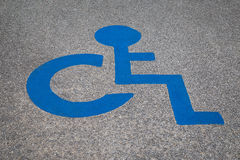 Disabled parking space sign Royalty Free Stock Photo