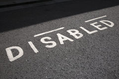 Disabled Parking Space Sign Stock Photo