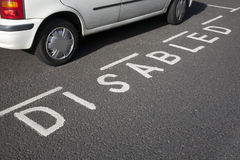Disabled Parking Space Royalty Free Stock Photo
