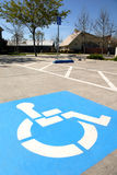 Disabled Parking Spaces Royalty Free Stock Photo