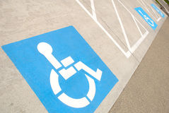 Disabled Parking Spaces Royalty Free Stock Image