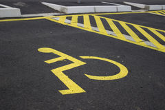 Disabled parking spaces 3 Stock Images