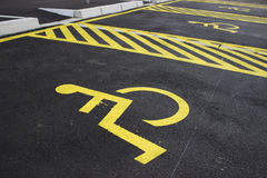 Disabled parking spaces 4 Royalty Free Stock Photo