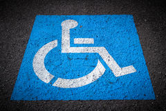 Disabled Parking Spaces Stock Photography