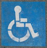 Disabled Parking Spot Marking. Detail in Prince Frederick, Maryland USA royalty free stock photography