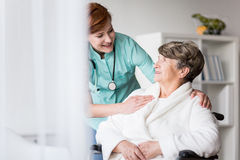 Disabled patient during hospital treatment Royalty Free Stock Photography