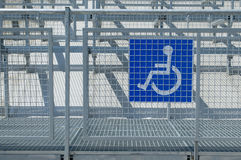 Disabled people auditorium sector. Special sector for disabled people who are using wheelchairs royalty free stock photos