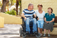 Disabled people community Royalty Free Stock Image