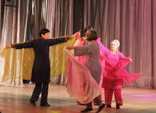 Disabled people dancing on stage