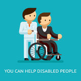 Disabled people help concept Royalty Free Stock Photos