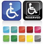 Disabled people sign Royalty Free Stock Images