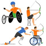 Disabled People in sport competition Stock Photography