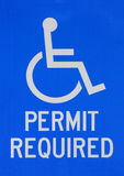 Disabled permit required sign royalty free stock photos