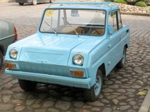 Disabled person car. Old retro russian car for disabled persons Stock Photography