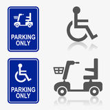Disabled person icon set Royalty Free Stock Image