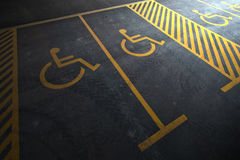 Disabled person parking Royalty Free Stock Images