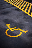 Disabled person parking place permit mark Stock Photo
