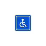 Only disabled person parking roadsign isolated Stock Photo