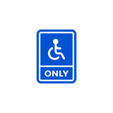 Only disabled person parking roadsign  Royalty Free Stock Images