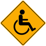 Disabled person sign vector illustration
