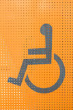 Disabled person sign Royalty Free Stock Photo