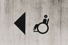 Disabled Person Sign Royalty Free Stock Image