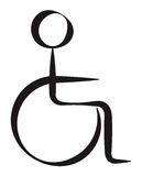 Disabled Person. Simplified Symbolic Represantation Royalty Free Stock Photos