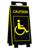Disabled person warning sign Royalty Free Stock Image