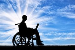 Concept of the opportunity to work for people with disabilities Stock Photography