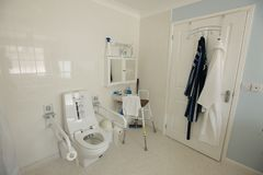 Free Disabled Persons Adapted Bathroom Stock Image - 127039991