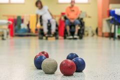 Free Disabled Persons Playing Boccia Stock Images - 160485194