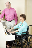 Disabled Pianist Royalty Free Stock Image