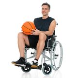 Disabled player on wheelchair Royalty Free Stock Photography