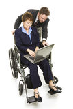 Disabled Professional - Teamwork Royalty Free Stock Photo