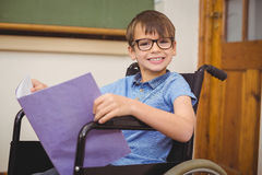 Disabled pupil smiling at camera Stock Images