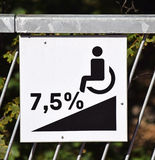 Disabled ramp sign Royalty Free Stock Image